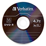 Verbatim M-Disc DVDR 4.7 GB 4X with Branded Surface - 5 Pack Jewel Case 98899