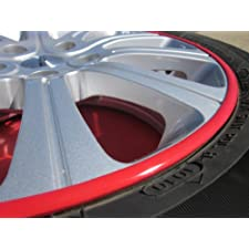 2008-2012 LAND ROVER LR2 Rim Guards Red Alloy Armor Wheel Rim Curb Scratch Protection Strips 2009 2010 2011 08 09 10 11 12
