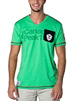 CANADIAN PEAK Camiseta Manga Corta Jurassic (Verde)