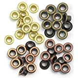 We R Memory Keepers Eyelets for Scrapbooking, Warm Metal, Standard (41583-1) (Color: Warm)