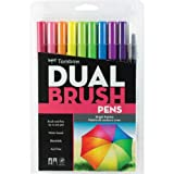 American Tombow Dual Brush Pen Set, 10 Pack, Bright Colors, Assorted (56185)