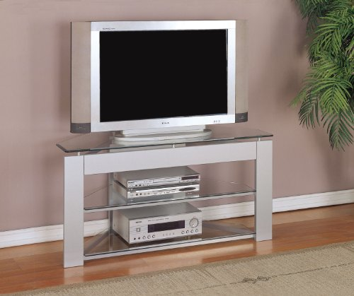 Cheap Glossy Silver TV Stand (968-802)