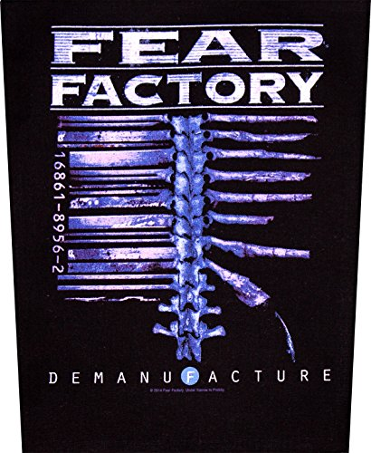 FEAR FACTORY schiena in gomma DEMANUFACTURE Back patch in gomma