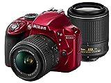 [デジタル一眼レフ] ニコン / Nikonデジタル一眼レフカメラD3300ダブルズームキット2レッド