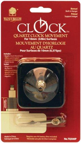 Walnut Hollow Quartz Clock Movement, 3/8-Inch Surfaces - 1