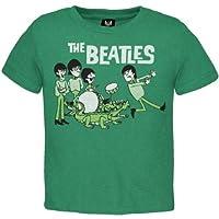 The Beatles - Green Cartoon Toddler T-Shirt