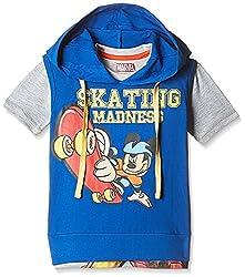 Kidsville Boys' T-Shirt (MC1TB05_Multi_5 - 6 years) Combo Tee pack of 2