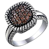 Vir Jewels Sterling Silver Champagne CZ Ring