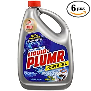 Liquid Plumr, 80 Fluid Ounce (Pack of 6)