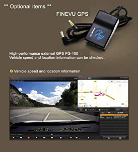 FineVu GPS FG-100 for CR-500HD and CR-300HD Dash Cam Car Black Box