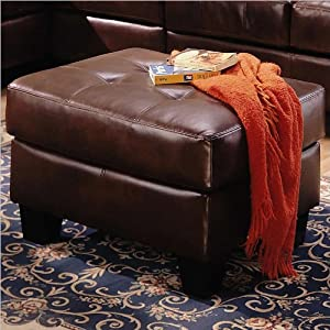 Samuel Collection Brown Leather Ottoman Coaster Furniture