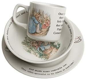 Wedgwood Peter Rabbit Original 3-Piece Set, Mug, Plate, and Bowl