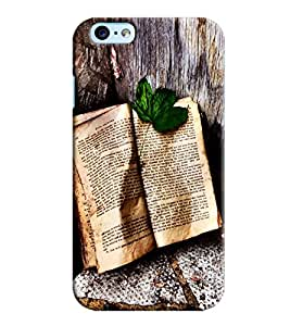 Blue Throat Book With Leaf Printed Designer Back Cover/ Case For Apple iPhone 6s Plus