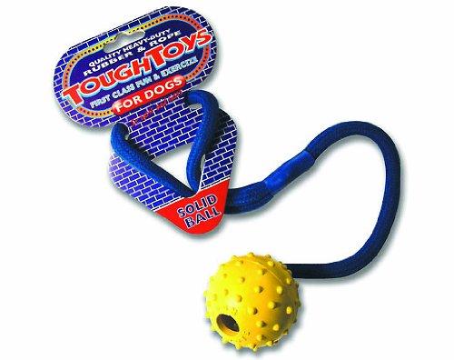 Robuster Spielball mit Seil