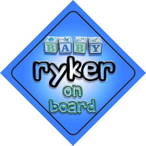 Ryker on board baby Boy auto a forma di cartello regalo per bambini e neonati