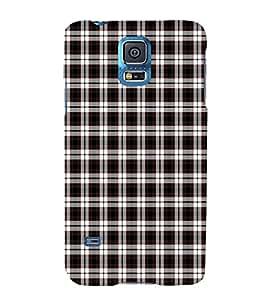 EPICCASE black checks Mobile Back Case Cover For Samsung Galaxy S5 Mini (Designer Case)