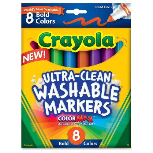 Crayola 8Ct Washable Bold Broad Markers front-1016371