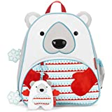 Skip Hop Zoo Backpack and Plush Set Polar Bear