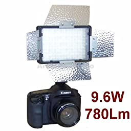 Pro Camera Continuous LED Light with Barndoor for Sony Alpha A380l, A550l, A330y, A700, A350x, A850, A200w, A300x, A700k, A500l, A100
