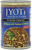 Jyoti Natural Foods Chhole, Chickpeas with Potatoes and Onions, Vegetarian, 425 Gram Cans (Pack of 12)