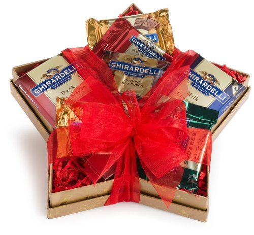 Image of Wine.com Stellar Ghirardelli Chocolate Assortment Star Shaped Gift Box