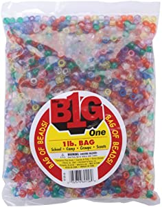 Pony Beads 9mm 1 Pound/Pkg-Transparent Multi Darice Craft Supplies