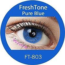 Lente de contacto de color Pure azul 1tons 12meses sin Correction