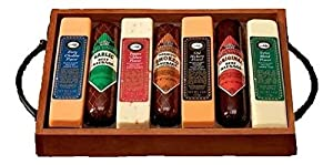 Wisconsin Gourmet Meat and Cheese Gift   Great Holiday, Birthday, or Fathers Day Gift