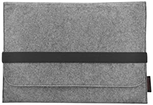 EasyAcc Macbook 13.3 inch Felt Sleeve Carrying bag Ultrabook Laptop  bag for Apple Macbook Air 13, Acer Aspire S3, S5, S7, Asus Zenbook UX31, HP spectre xt, Samsung SERIES 9 NP900X3B, Samsung SERIE 5 NP530, Toshiba Satellite Z830 Ultrabook [Size: 13.3 inch, Color: Grey]