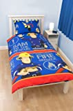 Boys Fireman Sam Rescue Quilt/Duvet Cover & Bedding Set (Single Bed) (Blue/Red)