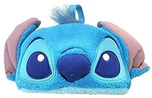 Disney メガネケース スティッチ ふわふわケース ブルー WDE-1800-FA ブルー