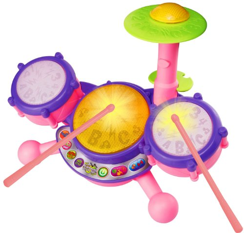 Vtech Kidibeats Drum Set Pink Exclusive front-105854