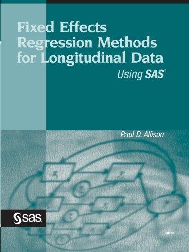 Fixed Effects Regression Methods for Longitudinal Data Using SAS