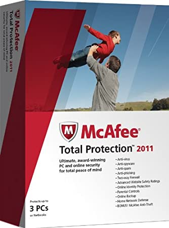 McAfee Total Protection 2011, 3 User (PC)