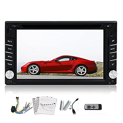 Bluetooth Double Dash 2 Din 6,2 pouces stšŠršŠo šŠcran LCD tactile de voitures CD DVD SD USB RDS Radio Player Mp3 FM Auto + Control Rremote
