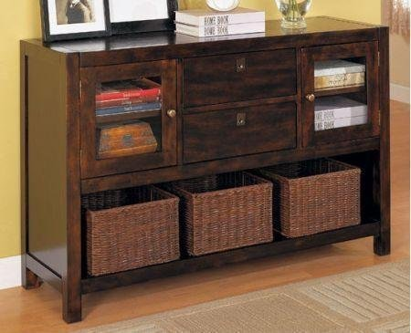 Cheap Dickson Console Table with Basket Storage by Coaster (B0051PE4CY)