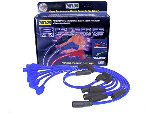 Taylor Cable 74635 Spiro-Pro Blue Spark Plug Wire Set (96 S10 Spark Plug Wires compare prices)