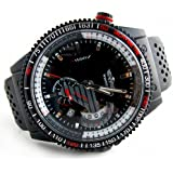 Youyoupifa Black Dial Black Rubber Strap Automatic Mechanical Watch Sport Watch Calendar Watch