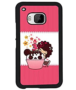 PrintVisa Metal Printed 3D Kartoon Designer Back Case Cover for HTC One M9-D4963