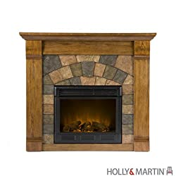 Holly & Martin Underwood Electric Fireplace - Antique Oak by Holly & Martin
