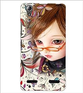 PrintDhaba Umbrella Girl D-4661 Back Case Cover for LENOVO A6000 PLUS (Multi-Coloured)