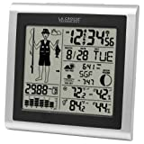 La Crosse Technology 308-1451 Atomic Forecast Station With Fisherman Icon In/Out Temperature Humdity Barometer...