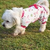 Alcoa Prime Cute Cartoon Design Dog Pajamas Puppy Cat Apparel Jumpsuit Costume Pink L