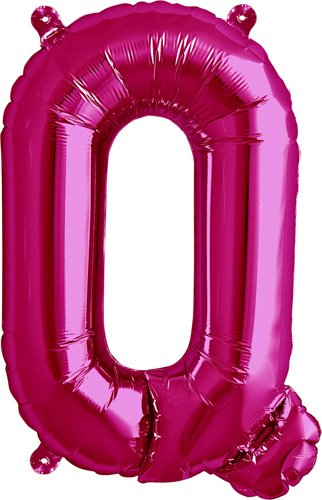 16 inch Letter Q - Magenta Air-Filled Foil Balloon