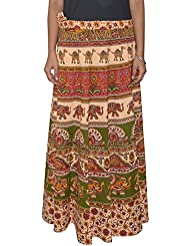 Gurukripa Shopee Women's Cotton Wrap-around Skirt (Multicolor) - B01I1DAT1C