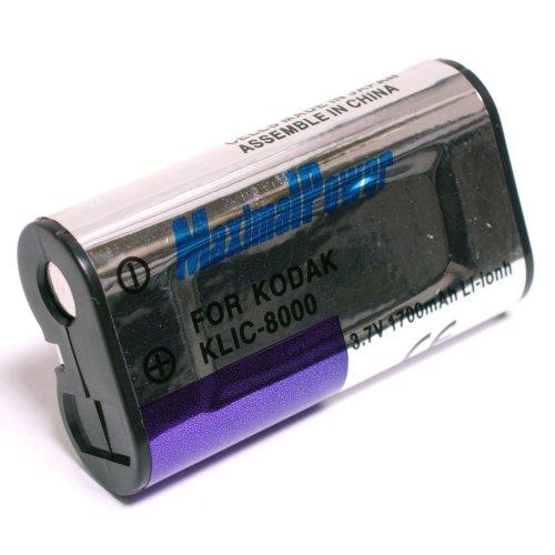 Maximal Power DB KOD KLIC-8000 Replacement Battery for Kodak Digital Camera/Camcorder (Black)
