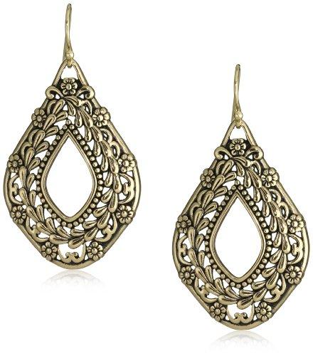 Bronzed by Barse Open Dangle Earrings