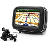 USA Gear Weatherproof Handlebar Mount GPS Case for 4.3-Inch Garmin Nuvi / TomTom / Magellan GPS Navigation Systems
