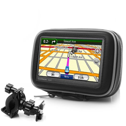 "USA Gear Handlebar Mount with Attachable Protective Case for 4.3"" Garmin Nuvi / TomTom / Magellan GPS Navigation Systems"