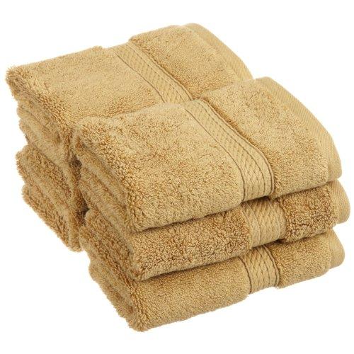 Superior 900 Gram 100% Premium Long-Staple Combed Cotton 6-Piece Face Towel Set, Toast